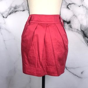 🦋BCBG🦋 red 100% cotton skirt w/ pockets